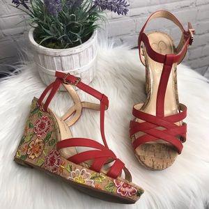 Jessica Simpson Floral Wedges